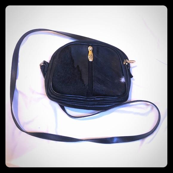Valentina Handbags - Valentina Black Leather Pony Hair Crossbody bag